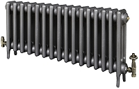 Eastgate Victoriana 3 Column 16 Section Cast Iron Radiator 450mm High x 997mm Wide - Metallic Finish